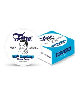 FINE ACCOUTREMENTS Barber Blue shaving soap new formula 150g