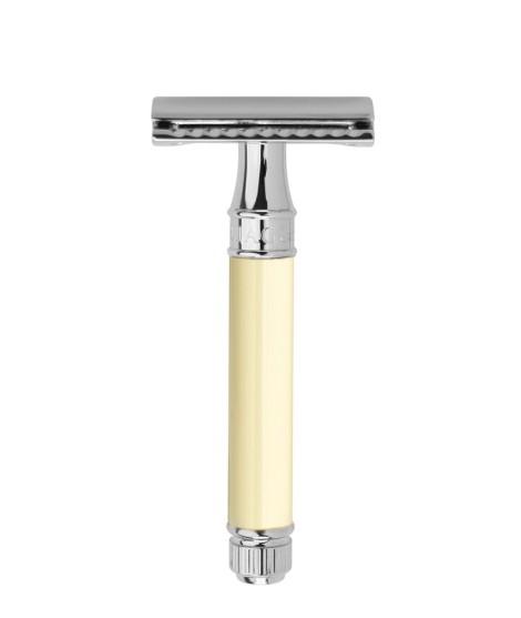 Maquinilla de afeitar clasica EDWIN JAGGER cromo marfil DE87bl